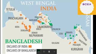 বাংলাদেশ ও ভারতের ছিট মহল সমুহ বিস্তারিত   Indian Enclave in Bangladesh   BCS Preparation 24