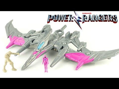Power Rangers Le Film Zord Légendaire Pterodactyle Ranger Rose Jouet Dinosaure Toy Review