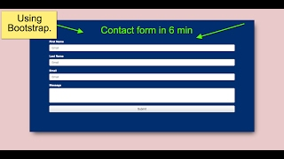 How to Design Contact us form in Bootstrap/ css3 / Html5