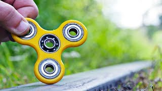 EXPERIMENT Fidget Spinner VS TRAIN