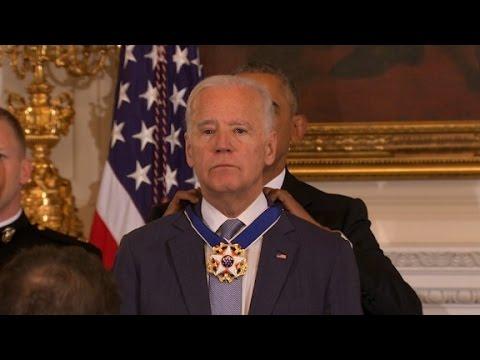 watch Obama awards Biden Presidential Medal of Freedom