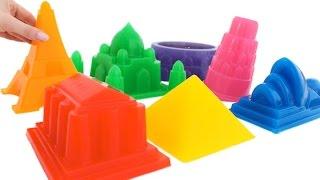 DIY Soft Jelly Gummy Giant Rainbow City Learn Colors Surprise * RainbowLearning