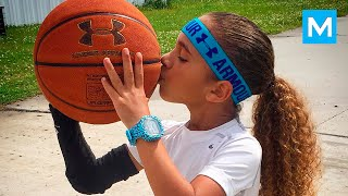 6-Year-Old Basketball Phenom Jaliyah Manuel Balls Like Steph Curry | Muscle Madness
