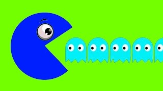 Learn Colors With Pacman For Kids Funny Video For Kids