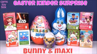 Kinder Easter Bunny MAXI Chocolate Surprise Eggs Opening Peppa Pig Star Wars Barbie Toys Girls Boys