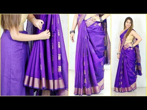 Xxx Mp4 इन TRICKS के साथ पहने Perfect Pleats वाली Cotton साड़ी How To Wear Saree Perfectly Anaysa 3gp Sex