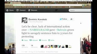 Bahraini Activist Nabeel Rajab Sentenced to 3 Years in Prison Over Tweets - 16-08-2012