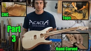 Acacia Guitars - CNC Body, Glue Top, Carve Neck - Video 3 of 9