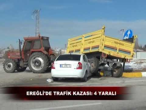 Ereğli'de Trafik Kazası 4 Yaralı