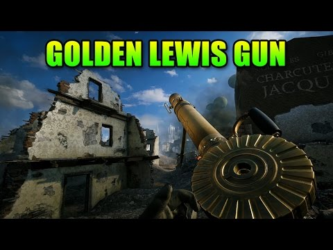 Golden Lewis Gun Supporting With Matimi0