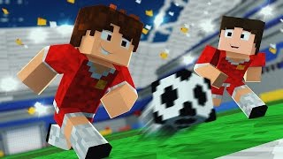 Minecraft: JOGO DE FUTEBOL! (Mini-Game Novo)