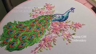 HAND EMBROIDERY:PEACOCK | ВЫШИВКА: ПАВЛИН