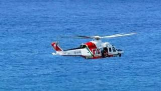 AW 139 Flight Display  - Italian Coast Guard Helicopter. Elicottero Guardia Costiera air show