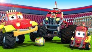 Monster Truck Dan Plays Soccer | Cartoons For Kids