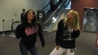 Ashley Tisdale and Vanessa Hudgens singing Wind It Up Gwen Stefani cover