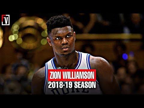 Zion Williamson Duke Full Freshmen Season Highlights Montage 2018 19 22.6 PPG 8.9 RPG MONSTER