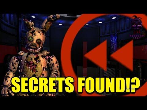 FNAF: Sister Location Springtrap Ending Backwards! SECRETS FOUND!?!