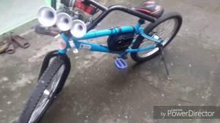Klakson telolet dan lampu strobo sepeda / sepeda modifikasi / om telolet om