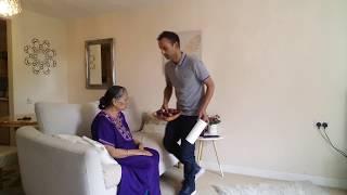 মা ও ছেলে  BIBI and son (explaining to mum what we are going to do)