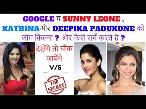 Google trends Analysis- Sunny leone vs katrina vs Deepika padukone