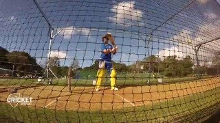 Starc back and firing them down in nets
