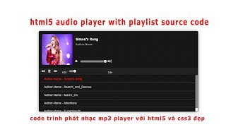 HTML5 Audio Player with Playlist MP3 | Code danh sách phát nhạc MP3 cho website
