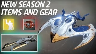Destiny 2 - New Season 2 Loot! New Iron Banner & Trials Gear, Exotic Ships, Sparrows, Emotes & More!
