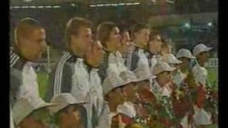 Iran v Germany, 2004, National anthems.