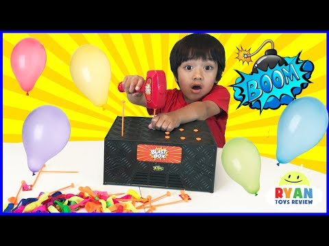 BLAST BOX BALLOON EXPLOSION Pop Challenge Family Fun Egg Surprise Toys for Kids