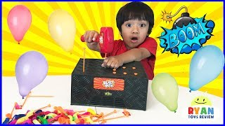BLAST BOX BALLOON EXPLOSION Pop Challenge! Family Fun Egg Surprise Toys for Kids
