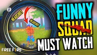 Best Ever Funny Squad Match Chimkandi - Garena Free Fire- Total Gaming