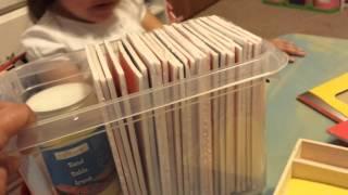 DIY Montessori sand paper letters