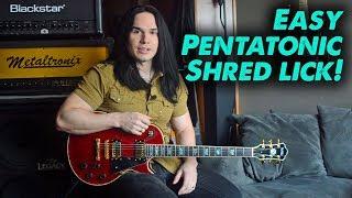 One of my favorite Pentatonic Shred licks! - Lesson w/Tab
