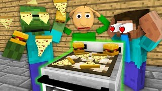 Monster School: WORK AT FAST FOOD PLACE WITH BALDI