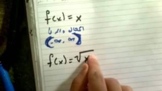معرفة المجال والمدى - رياضيات ثاني ثانوي مطور ج2