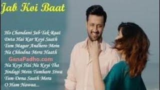 Jab Koi Baat Bigad Jaye || Atif Aslam and Shreley Satia Whatsapp Status