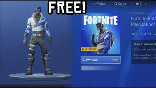 How To Download *FREE* Playstation SKIN in Fortnite! (NEW PlayStation Plus Skin + Back Bling Free)