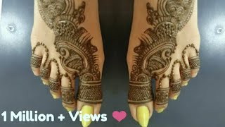 Indo Arabic Mehndi Design For Leg! Feet Mehendi Design! Leg Foot Mahendi Design 2018. #12