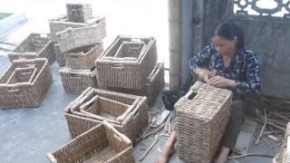 Vietnam water hyacinth weaving basket   Cat Dang handicraft Co ,ltd