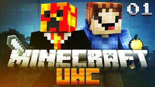 Minecraft UHC SEASON 7 (ULTRA HARD CORE) #1 with PrestonPlayz & MrWoofless