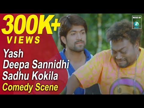 Jaanu Kannada Movie Comedy Scenes 4 | Yash, Deepa, Sadhu Kokila
