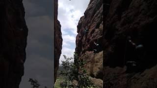 Rock climbing at badhami....