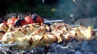 Jooje Kabab | Persian Joojeh kebab Recipe | جوجه کباب