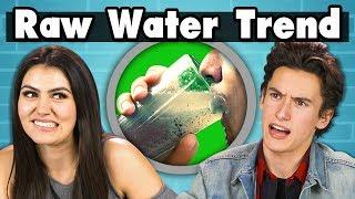 TEENS TRY RAW WATER | Teens Vs. Food