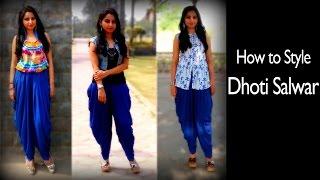 How to Style Dhoti Salwar | Indo western Dhoti Pants Style | ft. Mukta