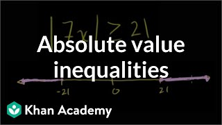 Absolute value inequalities | Linear equations | Algebra I | Khan Academy