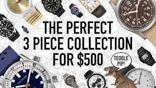 The Perfect 3 Piece Watch Collection Under $500 + Hugo