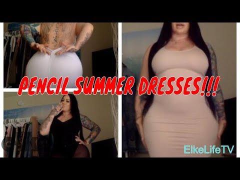 Xxx Mp4 Review PENCIL DRESS SUMMER DRESS Curvy Plus Size Elke Life 3gp Sex