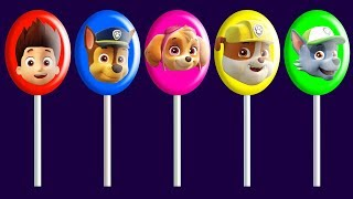 Paw Patrol Lollipops Finger Family Song Nursery Rhymes | Colors Learn