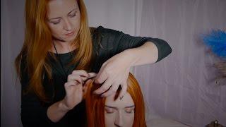 ASMR Style Hair Pulling Massage   Gentle, Soft Spoken, Hair Sounds